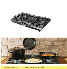 "Brand METAWELL 30""Built-in Cooktop Stove LPG/NG Gas Hob Cooker Black Titanium"