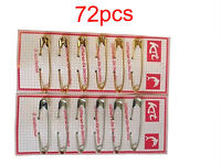 Pack of 6pcs to 18 pcs Extra Large 7cm silver chrome or Bronze Safety pins uk