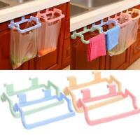 Cupboard Hanging Garbage Bag Holder Trash Rack Kitchen Gadget Storage Hanger US