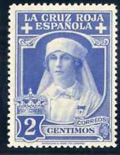 Sellos 1926 Pro Cruz Roja Española nº 326 2 centimos azul celeste nuevo