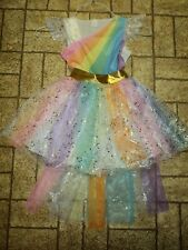 Rainbow Bright Sparkly Dress . Sz. Small. Beautiful!