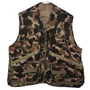 Gamehide Hunter's Camo Front-Loader Canvas Duck Hunting Vest Size Medium
