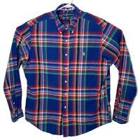 Ralph Lauren Mens XL Multicolor Plaid Custom Fit Long Sleeve Button Down Shirt