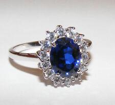 Wunderschöner Saphir Ring echt 925er Silber *WOW