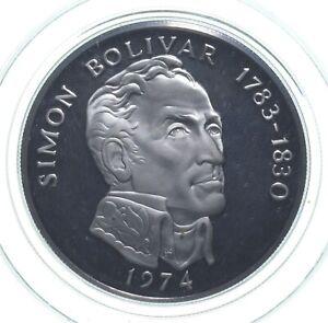SILVER - WORLD COIN - 1974 Panama 20 Balboas - World Silver Coin *724