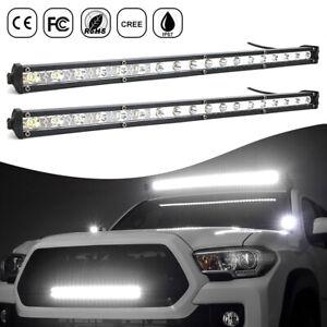 "21"" LED Work Light Bar Spot Flood Roof Lights Driving Lamp Offroad Car Truck SUV"