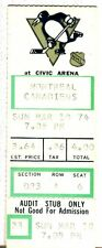 VINTAGE 1974 HOCKEY TICKET STUB-3/10/74-MONTREAL CANADIENS/PITTSBURGH PENGUINS