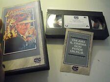 """VHS """" INDIANA JONES E IL TEMPIO MALEDETTO """" 1990  (S/L30)"""