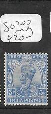 INDIA  (P1805B) KGV  3A  SG 200  MOG