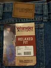 WRANGLER RUGGED WEAR RELAXED FIT DENIM JEANS SIZE 56 X 28 NWT
