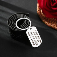 I Love You For Who You Are Creative Couples Boyfriend Stainless Steel Key Ring
