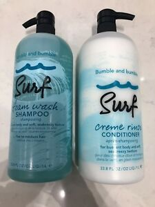 Bumble And Bumble Surf Foam Wash Shampoo & Creme Rinse Conditioner 33.8oz DUO