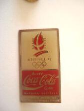 PINS VINTAGE SPORT COCA COLA JEUX OLYMPIQUES ALBERTVILLE 92 OLYMPIC GAMES wxc 27