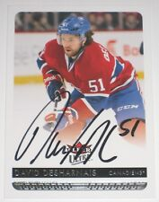 DAVID DESHARNAIS SIGNED 14-15 FLEER ULTRA MONTREAL CANADIENS CARD AUTOGRAPH AUTO