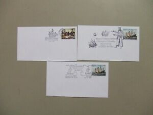 Three Christophor Columbus covers with different special cancelation