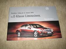 MERCEDES CLASSE E BERLINA w212 LISTINO PREZZI PRICE LIST di 12.07.2010 52 pagine
