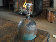 """Industrial ART DECO STEEL BOTTLE & AIR VALVE COULD BE TURNED INTO LAMP 11-1/2"""""""