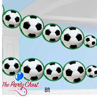 2.4M FOOTBALL DIE-CUT GARLAND Football Soccer Party Banner Bunting Garland 29709