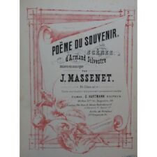 MASSENET Jules Poèmes Chant Piano ca1880 partition sheet music score