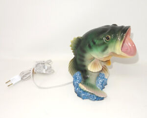 Bigmouth BASS Fish Night Light Lamp Hunting Fishing Outdoor Sport Big Mouth Desk