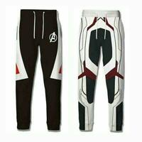 Avengers 4 Endgame Quantum Realm Mens 3D Long Pants Trousers Cosplay Costume US