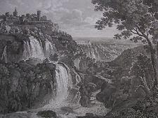 G. COTTAFAVI 'cascatelle di Tivoli, Lazio, cascate, se of Tivoli' 1843