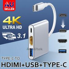 3IN1 USB 3.1 Type-C to 4k HD HDMI USB3.0 Surface Pro MacBook ChromeBook Samsung