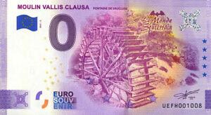 84 FONTAINE-DE-VAUCLUSE Moulin Vallis Clausa 2, 2021, Billet Euro Souvenir