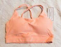 Astoria Activewear Women's Criss Cross Sports Crop Top SV3 Peach Small NWT