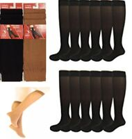 6 & 12Pairs Women's Opaque Spandex Trouser Knee High Pop Tights Adults Socks lot