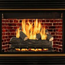 "Natural Gas Fireplace Logs Set 30"" Large Realistic Vented fire Place Insert Log"