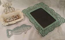Cast iron fish bottle opener soap dish and picture frame