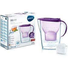 BRITA Marella MAXTRA+ Plus 2.4L Water Filter Jug + Cartridge Cool Colours Purple