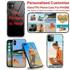 Personalised Design Phone Case TPU Glass Cover Apple iPhone Cstomise With Photo