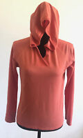 Horny Toad Women's Orange Long Sleeve Hoodie Hooded Pullover Shirt Size Small
