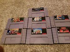 7 Super Nintendo Games SNES Retro Mario Donkey Kong Star Fox