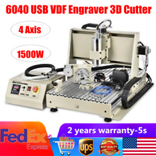 Usb 4axis 6040 Cnc Router Engraver Vfd Metalwoodworking Milling Machine 15kw