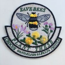 8ba197839 Save the Bees bumblebee Iron On Embroidered Patch