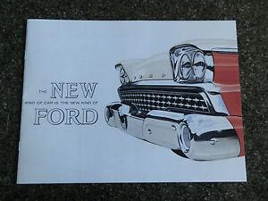 1959 FORD FAIRLANE ''RARE'' RHD AUST BROCHURE