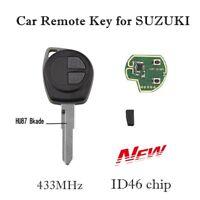 2 Button Car Key Remote Control Cover Case Fob For SUZUKI SWIFT SX4 ID46 Chip YL
