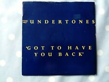 """The Undertones Got To Have You Back 2 Track Vinyl 7"""""""