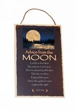 """Advice from a Moon Inspirational Novelty 5.5""""x8.5"""" Wood Sign Plaque for Wall"""