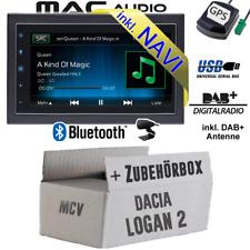 Autoradio für Dacia Logan 2 MCV 2DIN DAB 2DIN NAVIGATION USB Bluetooth DAB+ Navi