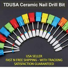 Tdusa Ceramic Nail Drill Bit For Pros - Flat Head, Smooth Top Nail Drill Bits