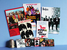 Dollhouse Miniature 1:12  Beatles 6 Record Album Covers  5 Posters  1960s music
