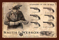Smith & Wesson Revolver Motiv 1 Blechschild Schild Tin Sign 20 x 30 cm FA0617