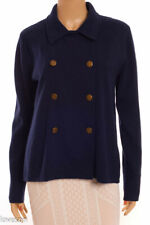 J. by J.CREW NWT Navy Blue 100% Cotton Stretch Double Breasted Blazer Jacket S