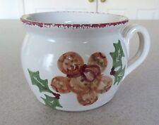 Gingerbread Man Handmade Hand Painted Pottery Ceramic Jug Pitcher Mug w/ Handle