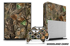 Designer Skin for XBOX ONE S 1S Gaming Console+2 Controller Sticker Decal WOODLD