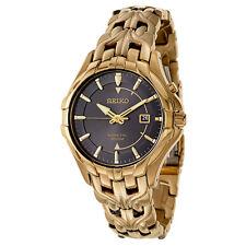Seiko Men's SKA586 Excelsior Analog Display Quartz Gold Watch